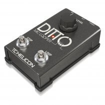 TC Helicon DITTO MIC Looper Two-Button Looper Pedal for Vocals and Acoustic
