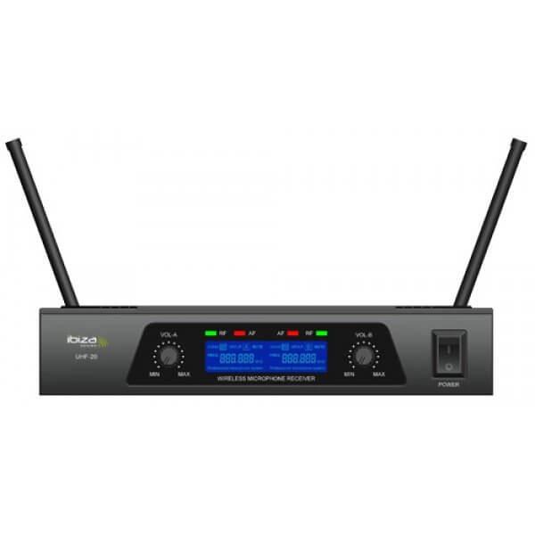 Ibiza UHF-20 Dual Wireless Handheld Microphone