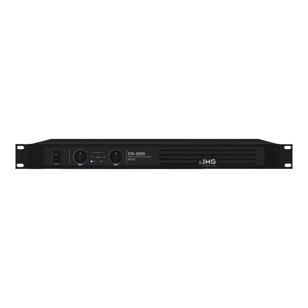 IMG Stageline STA-500D 1U 600W Digital Rack Power Amplifier