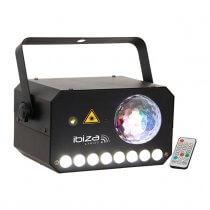 Ibiza Light 3-in-1 Astro-Strobe-Laser Light Effect