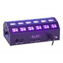 Ibiza Light LED-STUV24 UV Flood Wash 24 x 3W Ultraviolet LED White Strobe DJ Disco
