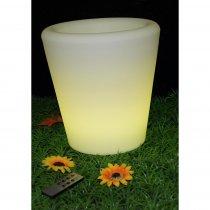 Ibiza Light LED Illuminated Battery Powered Flower Pot IP54 Rated