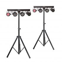 2x Ibiza DJLIGHT85 GigBar Light Package Strobe, Par, Derby and Laser Disco Band