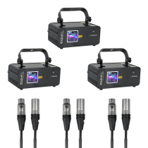 Ibiza Light RGB Laser iLink Set Linkable Laser Show Bundle