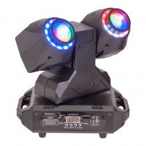 Ibiza Dual 2-in-1 Wash & Beam LED Moving Head with DMX Control Disco DJ