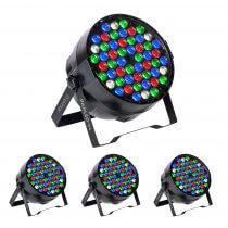 4x Ibiza Light PARLED-54 RGBW LED PAR CANs