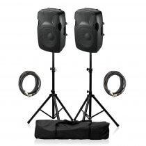 "Ibiza Sound XTK10A Active Speaker 10"" 600W Sound System DJ Disco Package"