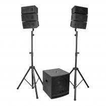 Ibiza Sound 2.1 CUBE15A-ARRAY Sound System