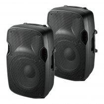 """2x Ibiza Sound XTK15 Passive 15"""" Speaker 600W Sound System PA DJ Disco"""