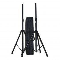 Ibiza Sound SS01B Speaker Stand Pair inc. Carry Bag