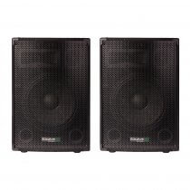 "2x Ibiza Sound DISCO-10B 10"" 400W 3 Way PA Speaker DJ Disco Sound System"