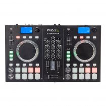 Ibiza Sound Ultra-Station DJ Controller  2CH Mixer, Dual CD Player & Bluetooth