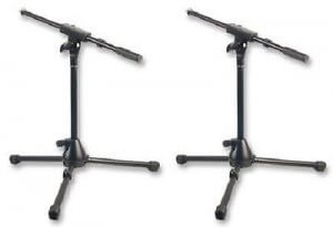 2x Heavy Duty Microphone Boom Stand (Short)