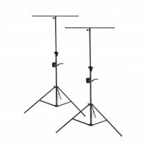 2x Soundsation LSA-300T Wind up Lighting Stand inc T-Bar Winch Tripod