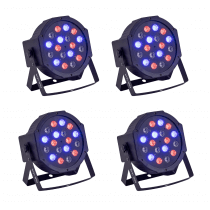 4x Soundsation PAR-181R LED Par 18 x 1W RGB Uplighter inc Remote
