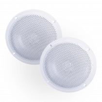"""e-Audio Ceiling Speakers 4"""" 60W Pair White"""