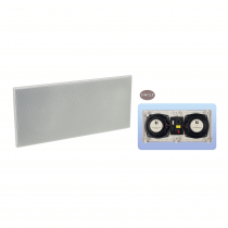 """e-Audio Dual 6.5"""" 2 Way In Wall Speaker with Twin Drivers and Dome Tweeter"""