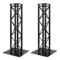 2x Global Truss 1.5M Stage Black Metal Truss Moving Head Light Plinth Podium Disco DJ