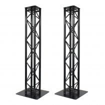 2x Global Truss 2M Stage Black Metal Truss Moving Head Light Plinth Podium Disco DJ