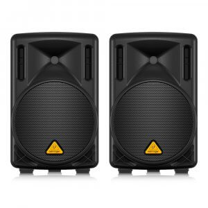 """2x Behringer B210D Active PA Speakers 200W 10"""""""