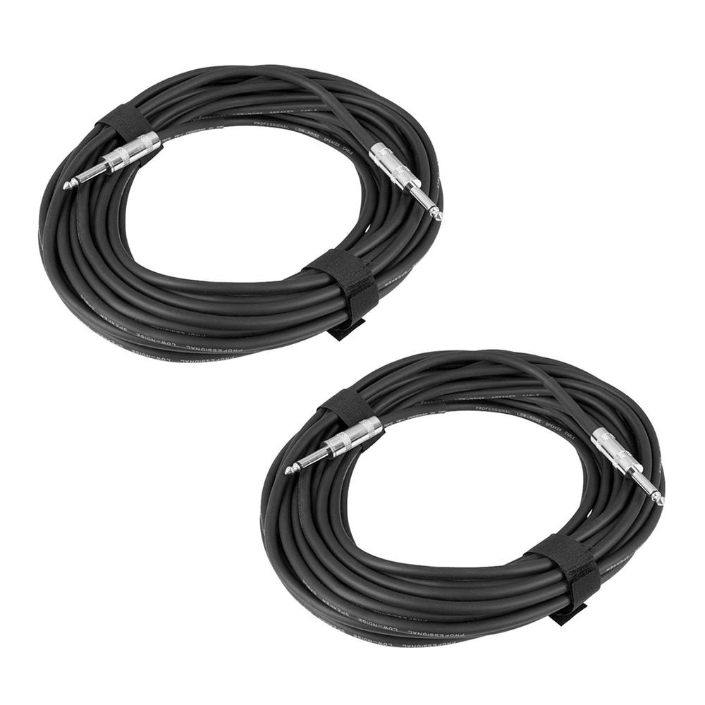 2x Soundlab 6M Jack to Jack Speaker Cable