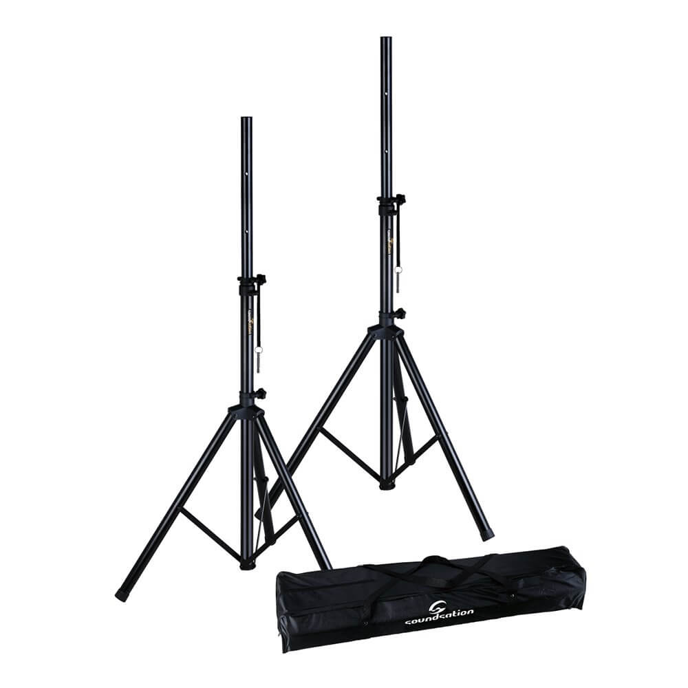 Soundsation SPS-SET70-BK PA Speaker Stand Kit with Carrying Bag