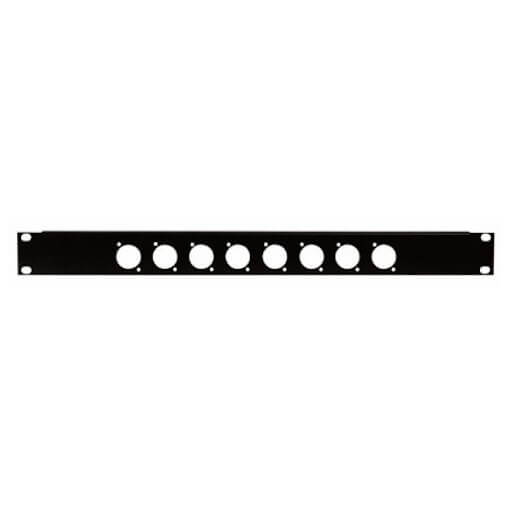 """1U 19"""" Connector Rack Panel for 8 x XLR Speakon Chassis Panel"""
