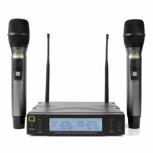 Q Audio QWM1960 Dual Handheld Wireless Microphone System CH38