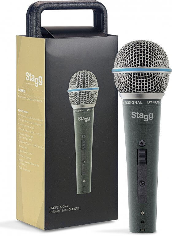 Stagg SDM60 Metal Dynamic Vocal Microphone Handheld