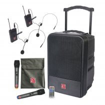 BST IPS10-250 Portable All Weather Outdoor IP54 Sound System PA Wireless Microphone Package