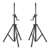 2x BST ST5 Heavy Duty Telescopic Speaker Stand with Winch