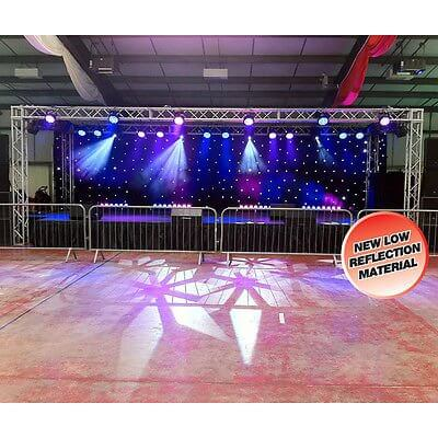LEDJ White LED DMX Black Starcloth (6m x 3m)