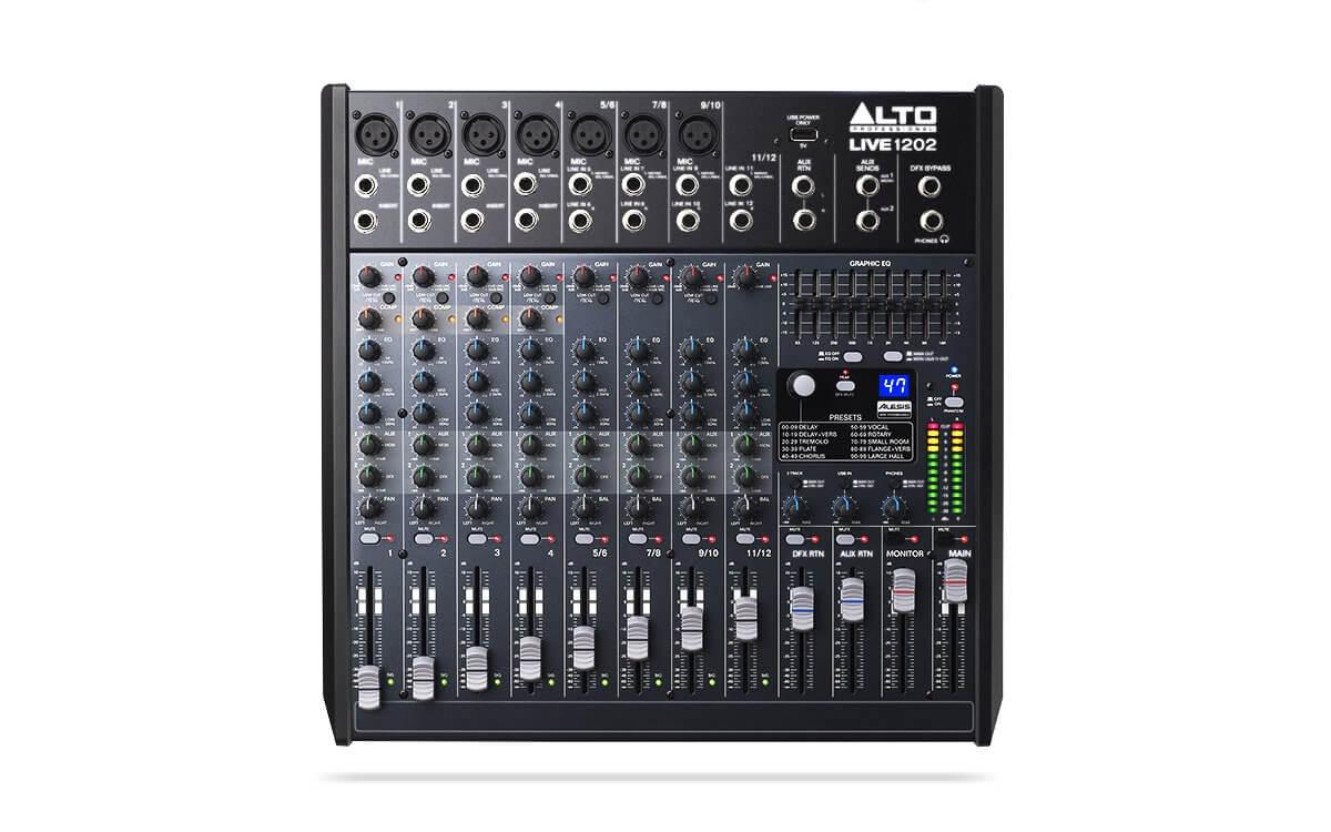 Alto Professional Live 1202 Mixer 12 Channel USB DSP Digital Effects