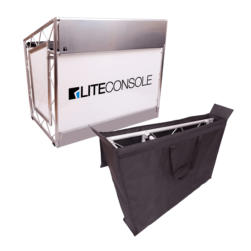 Liteconsole XPRS V2 Foldable DJ Booth Stand Desk + Carry Bag Bundle