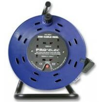 Pro Elec 25m Cable Reel, 13A 4 Socket - 2200-4-25M