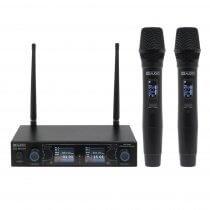 W Audio DM 800H Twin Handheld UHF Radio Microphone Wireless CH70 DJ Karaoke