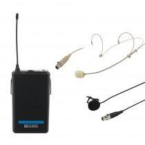W Audio RM Quartet Beltpack Kit 863.42Mhz Lapel Headset Suitable for Kam Quartet
