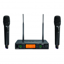 JTS UHF PLL Dual Channel Diversity Handheld Wireless Microphone System with REMOSET and BNC antenna CH38