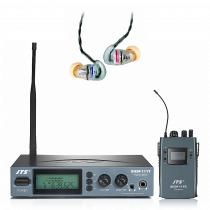 JTS SIEM-111 CH38 IEM System inc. IE-1 HD In Ear Headphones