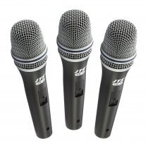 3x JTS TX-7 Dynamic Vocal Instrument Microphone inc Clip + XLR Cable