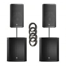 Electro-Voice ELX200 Dual 15P & 18SP Power Pack 4800W Active Sound System + Covers
