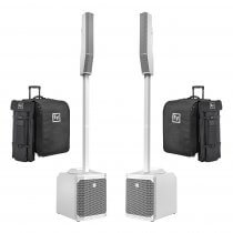 Electro-Voice EVOLVE 30M Portable Column Speaker System, White (Bundle)