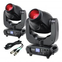 2x eLumen8 Evora 500 Spot LED Moving Head 100W DJ Disco Lighting
