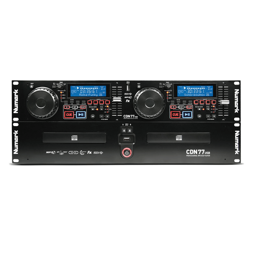 Numark CDN77USB Professional Dual USB MP3 CD Player
