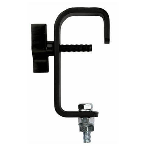Showtec 50mm Hook Clamp Black Pipe