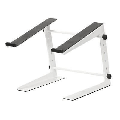 White DJ Laptop Stand Heavy Duty Metal