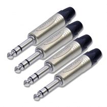 "4 x Neutrik Jack Stereo Plug 1/4"" 6.35mm NP3X"