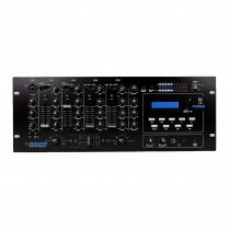 """Newhank Playmate 4U 19"""" Rack Mixer inc Media Player Mixing Desk"""