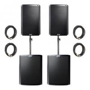 "Alto TS315 Active 15"" DJ Disco Speaker x2 & Alto TS218S Subwoofer x2 6500W Sound System"