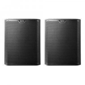 "2x Alto TS318S Active 18"" 2000W Subwoofer Bass Bin Speaker DJ Disco Sound System"